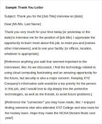 sample thank you letters 52 free word pdf documents downloads