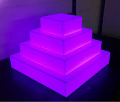 acrylic cake stands rgb color lighted acrylic cake stand buy lighted acrylic cake