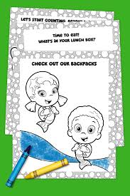 bubble guppies off to coloring pack nickelodeon parents