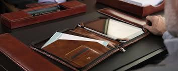 Desk Organizer Leather Excellent Leather Desk Office Accessories Bosca Inside Ordinary