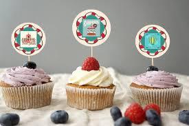 custom cupcake toppers carnival cupcake toppers circus cupcake toppers custom cupcake