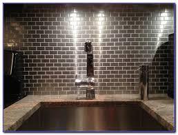 Steel Tile Backsplash by Stainless Steel Subway Tile Backsplash Tiles Home Decorating