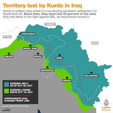 Iraq On World Map Territory Lost By Kurds In Iraq Al Jazeera