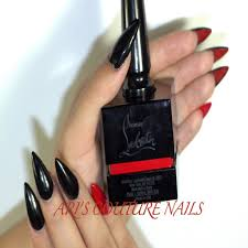 red bottom nail designs