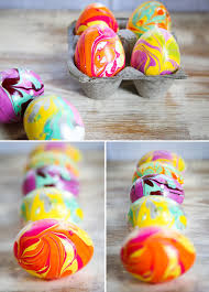 Easter Eggs Decorations Pinterest by How To Marble Easter Eggs With Nail Polish Just Messy As Marbling