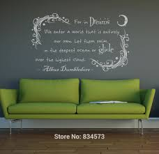 home decor wall art stickers dumbledore in dream harry potter wall art sticker decal home diy