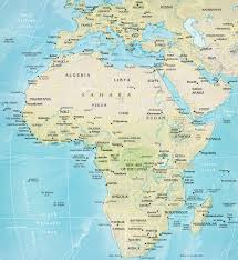 World Map Of Africa by Africa Travel Physical Map Of African Countries