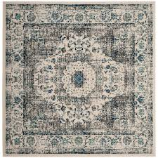 safavieh chatham blue ivory 9 ft x 9 ft round area rug cht717b