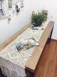 home decor table runner table runner handmade macrame runner custom size wedding home