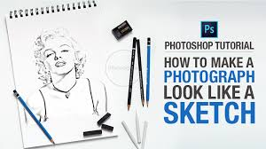 how to make a photograph look like a sketch in photoshop this