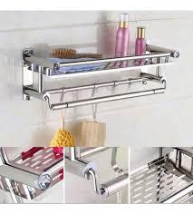 Bathroom Shelf Organizer by Mounted Towel Rack Bathroom Shelf Organizer