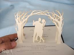 pop up wedding invitations my pop up wedding invitation the green box