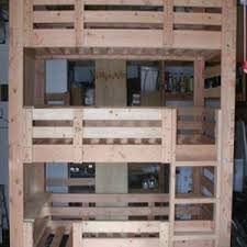 Wooden Bunk Beds Heavy Duty Solid Wood Custom Made Triple Bunk - Triple bunk bed wooden