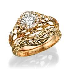 bridal gold ring engagement set diamond engagement set wedding band set matching