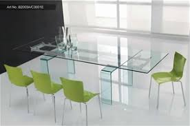Italian Design Glass Top Extension Dining Table With Chairs - Italian design chairs
