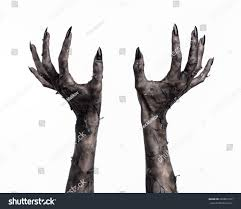 terrible zombie hands dirty hands mummy stock photo 226861537