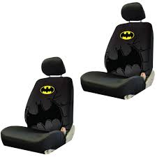 batman jeep accessories front low back bucket seat covers car truck suv dc comics