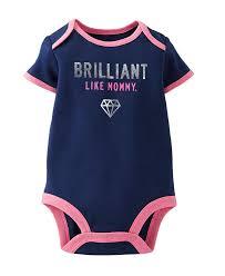 Macy S Children S Clothes Cute Carter U0027s Baby Girls U0027 Slogan Bodysuit U2013 Baby Girls Bodysuit