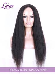 long black hair with part in the middle virgin kinky straight v part lace wigs brazilian human hair middle