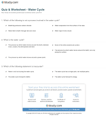 water cycle quiz worksheet phoenixpayday com