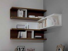 Corner Wall Bookcase Cabinet Shelving How To Make Floating Shelves Corner Style How