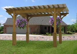 luxcraft wood pergola amish yard