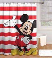 Red Mickey Mouse Curtains Mickey Mouse Shower Curtain Ebay