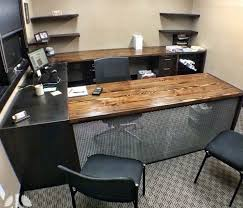 Wood Desk Ideas Industrial Rustic Fusion Reclaimed Wood Desk Industrial Home With