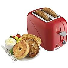 Bread Shaped Toaster Amazon Com Continental Electric 2 Slice Metallic Red Toaster