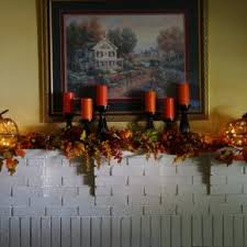 Vintage Home Interior Products Beautiful Thanksgiving Mantel With Orange And Black Candles And