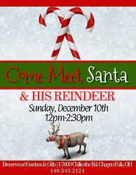 Breezewood Gardens Chagrin Falls - meet santa u0026 his reindeer at breezewood gardens u0026 gifts chagrin falls