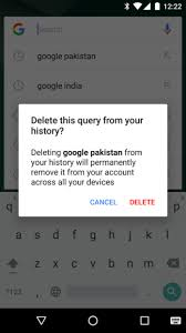 delete search history android delete search widget history on android home screen