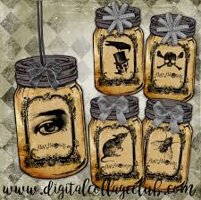 halloween jar labels halloween mason jar digital collage sheet halloween images for