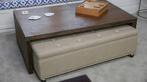 Ottoman With Table Rolling Ottoman