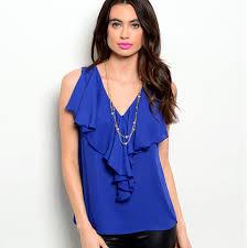 royal blue blouse top tops top royal blue blouse