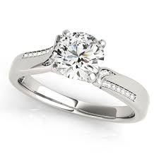 design an engagement ring italian design diamond engagement ring with accents