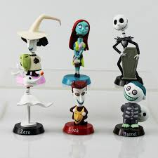 6pcs set nightmare before figure lock sally zero barrel
