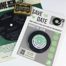 Postcard Save The Dates Vinyl Record Save The Date Magnets With Postcards U2013 Love Me Do Designs