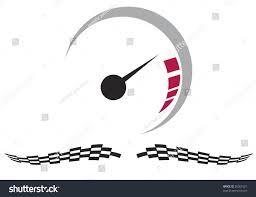 Checkered Racing Flags Vector Speedometer Checkered Racing Flags Stock Vector 30361021