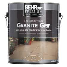 behr 1 gal 65501 tan granite grip interior exterior concrete