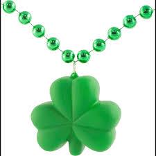 light up shamrock necklace on green clmp008 1233