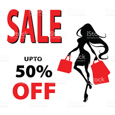 silhouette woman with shopping bag vector banner template for