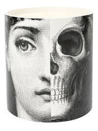 Fornasetti Vase Fornasetti Vase Fornasetti Profumi Face And Skull Print Candle