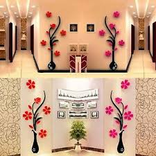 Home Decor Ebay 3d Vase Removable Flower Tree Acrylic Wall Sticker Home