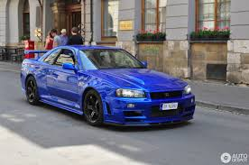 nissan skyline 2015 blue nissan skyline r34 gt r v spec ii nür 28 may 2016 autogespot