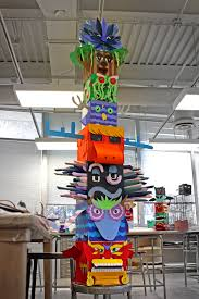 Home Decor Using Recycled Materials Paper Totems A High Art Foundations Project High