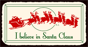 christmas signs i believe in santa vintage metal christmas retro tin sign