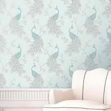 duck egg blue teal wallpaper owl bird peacock scroll tree duck egg blue teal wallpaper owl bird peacock
