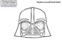angry birds star wars coloring pages pig boss darth vader 115123