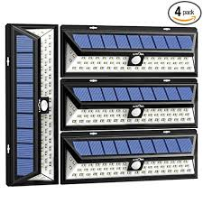 solar bright lights outdoor litom solar lights outdoor 54 led super bright wide angle solar